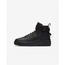 108ABYFP Boys Black Nike SF Air Force 1 Mid Lifestyle Shoes