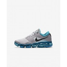 112IOAXR Boys Vast Grey/Dusty Cactus/Atmosphere Grey/Black Nike Air VaporMax Running Shoes