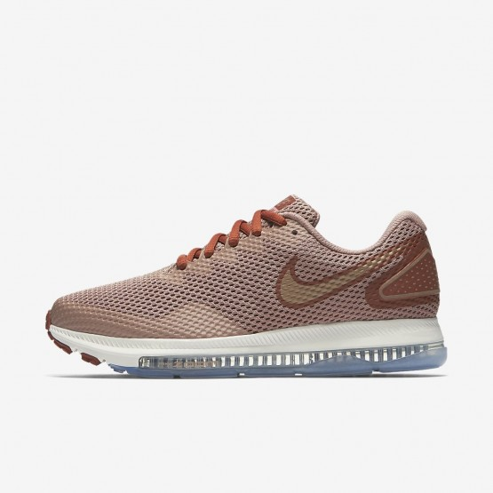 117VRPDY Womens Dusty Peach/Particle Pink/Metallic Red Bronze Nike Zoom All Out Low 2 Running Shoes