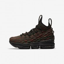 118EBTZR Boys Multi-Color/Black Nike LeBron 15 BHM Basketball Shoes