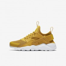 122QCUMF Boys Mineral Yellow/Pure Platinum/Vivid Sulfur Nike Air Huarache Ultra Lifestyle Shoes