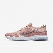 131LWGJH Womens Rust Pink/White/Gunsmoke Nike Air Zoom Fearless Flyknit Lux Training Shoes