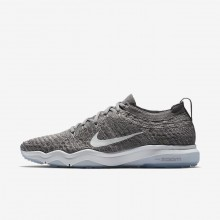 133FJCKN Womens Gunsmoke/Atmosphere Grey/White Nike Air Zoom Fearless Flyknit Lux Training Shoes