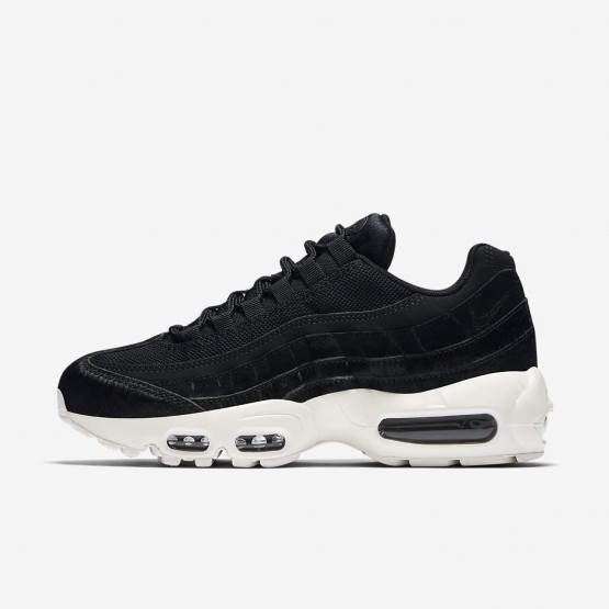136DUBXA Womens Black/Dark Grey/Sail Nike Air Max 95 LX Lifestyle Shoes