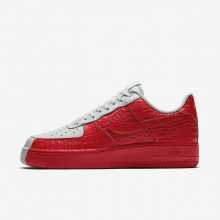 136JOLFQ Chaussure Casual Nike Air Force 1 07 Premium Homme Grise/Rouge