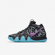 142IYKFD Boys Black/White Nike Kyrie 4 AS Basketball Shoes