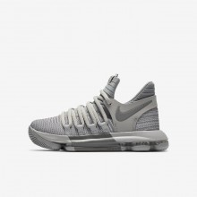 147OHAVY Boys Wolf Grey/Cool Grey Nike Zoom KDX Basketball Shoes