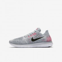 151AXIGL Boys Wolf Grey/Pure Platinum/Cool Grey/Black Nike Free RN Flyknit 2017 Running Shoes