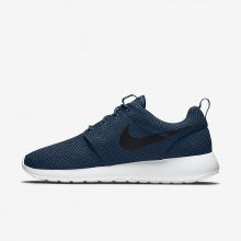 155JHNTY Chaussure Casual Nike Roshe One Homme Bleu Marine/Blanche/Noir
