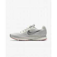 157MBGVC Womens Light Bone/Pale Grey/Sail/Chrome Nike Air Zoom Pegasus 34 Running Shoes