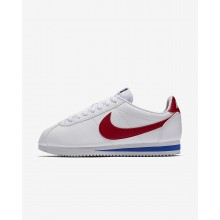 158TQRIE Womens White/Varsity Royal/Varsity Red Nike Classic Cortez Lifestyle Shoes