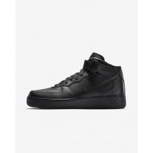 159TRZDH Mens Black Nike Air Force 1 Mid 07 Lifestyle Shoes