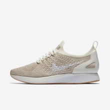 169MGVQL Womens Sail/Sand/Gum Yellow/White Nike Air Zoom Mariah Flyknit Racer Lifestyle Shoes