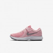 171FJQRW Girls Arctic Punch/Sunset Pulse/White/Metallic Silver Nike Revolution 4 Running Shoes