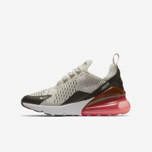 178RTAFH Boys Light Bone/Black/Hot Punch/White Nike Air Max 270 Lifestyle Shoes