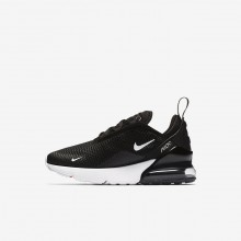187DIAQP Boys Black/Anthracite/White Nike Air Max 270 Lifestyle Shoes