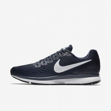 189HCONP Mens Obsidian/Thunder Blue/Black/White Nike Air Zoom Pegasus 34 Running Shoes