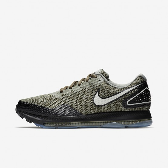 192SREBN Mens Cargo Khaki/Black/Light Bone Nike Zoom All Out Low 2 Running Shoes