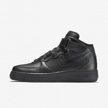 192TVFWA Womens Black Nike Air Force 1 Mid 07 Lifestyle Shoes