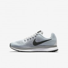 193LDOJH Boys Pure Platinum/Cool Grey/Wolf Grey/Anthracite Nike Zoom Pegasus 34 Running Shoes