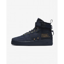 195BMJHF Zapatillas Casual Nike SF Air Force 1 Mid Hombre Obsidian/Negras
