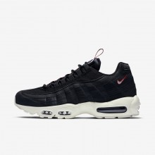 201CZFBS Mens Black/Gym Red/Sail Nike Air Max 95 Lifestyle Shoes
