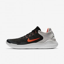 211GUOHY Mens Black/Vast Grey/White/Total Crimson Nike Free RN 2018 Running Shoes