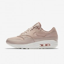 220RALXG Womens Particle Beige/Particle Pink/Summit White Nike Air Max 1 Premium Lifestyle Shoes