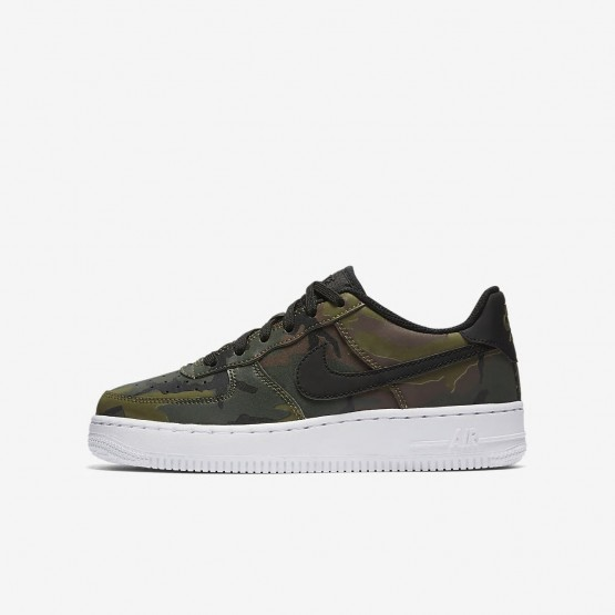 229YQHRG Boys Medium Olive/Baroque Brown/Sequoia/Black Nike Air Force 1 LV8 Lifestyle Shoes