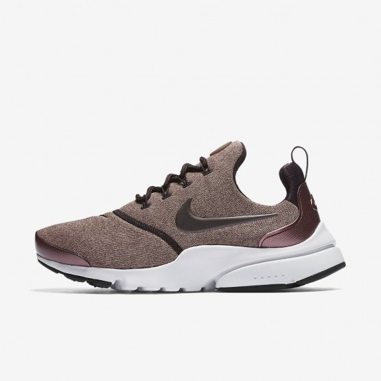 235LFQIM Womens Port Wine/Particle Pink/Black/Metallic Mahogany Nike Presto Fly SE Lifestyle Shoes