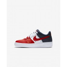 237YIHCA Boys University Red/Midnight Navy/University Gold Nike Air Force 1 LV8 Lifestyle Shoes