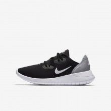 244HEJQA Boys Black/Wolf Grey/White Nike Hakata Lifestyle Shoes