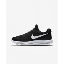 248AOJHW Womens Black/Anthracite/White Nike LunarEpic Low Flyknit 2 Running Shoes