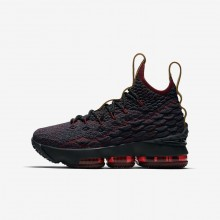 250SOCGY Boys Dark Atomic Teal/Team Red/Muted Bronze/Ale Brown Nike LeBron 15 Basketball Shoes