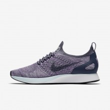 259BMUFJ Womens Light Carbon/Summit White/Glacier Blue Nike Air Zoom Mariah Flyknit Racer Lifestyle Shoes