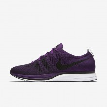 266XZGDO Chaussure Casual Nike Flyknit Trainer Homme Violette/Blanche/Noir