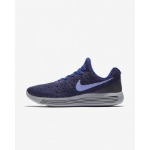 277QTENC Womens Dark Raisin/Deep Royal Blue/Black/Light Thistle Nike LunarEpic Low Flyknit 2 Running Shoes