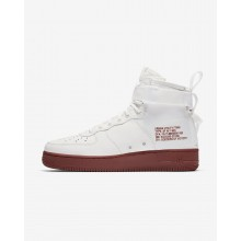 289FYZVC Mens Ivory/Mars Stone Nike SF Air Force 1 Mid Lifestyle Shoes