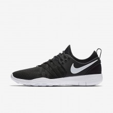 296VYSIM Womens Black/White Nike Free TR7 Training Shoes
