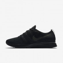 308LKJEZ Mens Black/Anthracite Nike Flyknit Trainer Lifestyle Shoes
