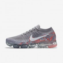 313FISLC Womens Atmosphere Grey/White/Hot Punch Nike Air VaporMax Flyknit Running Shoes