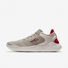 314DFZIN Womens Moon Particle/Phantom/Habanero Red/Team Red Nike Free RN 2018 Running Shoes