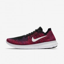 314VMYHB Boys Black/Total Crimson/University Red/Pure Platinum Nike Free RN Flyknit 2017 Running Shoes