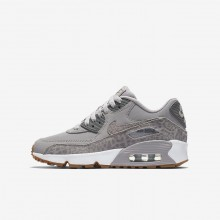 315AQYTM Zapatillas Casual Nike Air Max 90 SE Leather Niña Gris/Blancas/Marrones Claro