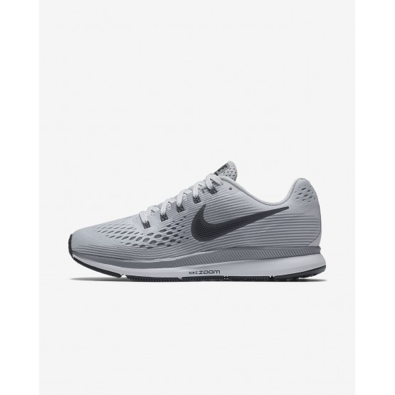 315MHVED Womens Pure Platinum/Cool Grey/Black/Anthracite Nike Air Zoom Pegasus 34 Running Shoes