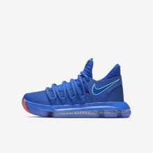 321SXYUV Boys Racer Blue/Black/Total Crimson/Light Menta Nike Zoom KDX Basketball Shoes