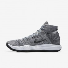 324NCELZ Womens Cool Grey/Pure Platinum/White/Anthracite Nike React Hyperdunk 2017 Flyknit Basketball Shoes