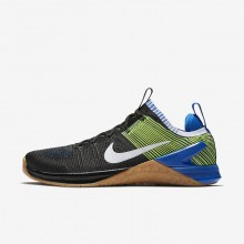 330EIUVQ Mens Black/Racer Blue/Volt/White Nike Metcon DSX Flyknit 2 Training Shoes