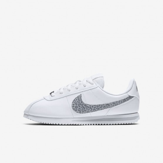 330LMZWK Girls White/Gunsmoke/Atmosphere Grey Nike Cortez Basic SL Lifestyle Shoes
