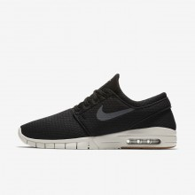 330OMULN Mens Black/Gum Medium Brown/Light Bone/Dark Grey Nike SB Stefan Janoski Max Skateboarding Shoes